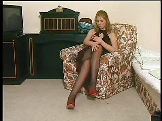 女孩在连裤袜