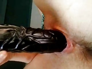 Real Home video - Hot lady Black Dildo
