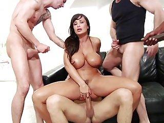 fake tits wore gangbanged