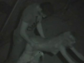 Amateur Nightvision Outside Fuck 2