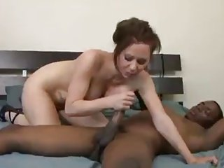 interracial slut loves big black dick