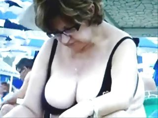 Russian Busty Mature Grannies  on the Beach! Amateur!