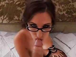 Classy Takes Cum on Her Glasses - Bubblegum