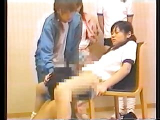 4 japanese schoolgirls and their oral sex slave - part 2
