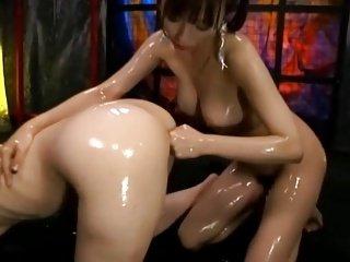 Japanese lesbians love fist