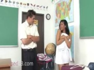 Latina student penetrated on the teacher