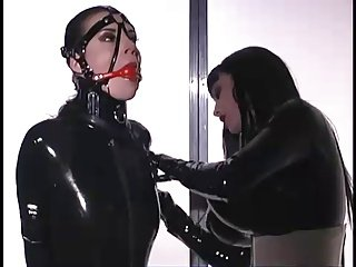 Mistress latex bondage