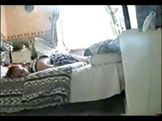 Watch my sister masturbating. Hidden cam