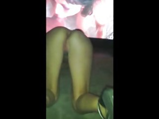 nicki flashing at the porn cinema