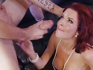 Veronica Avluv gets huge facial blast from monster dick