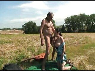 Randy Grandpa  and gir