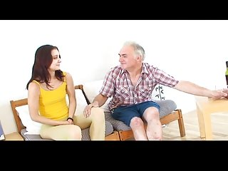 Small tittted girl gets drilled by grandpa  PART1
