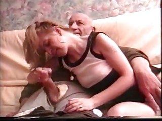 Old grandpa is cumming (handjob)