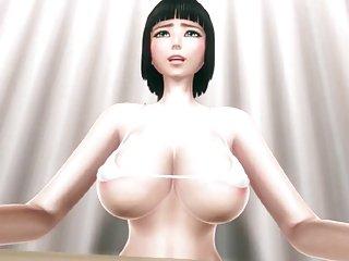 Aoi Has An Ecchi Job At A Bookstore 3D