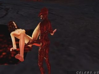 3D Model fuck by a daemon in hell