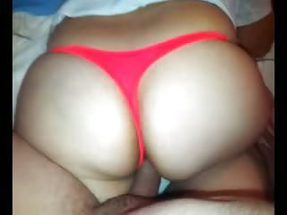 ORANGE THONG!! BIG ASS!!