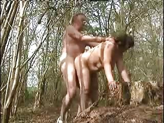 My wife fuck in the forest by a stranger
