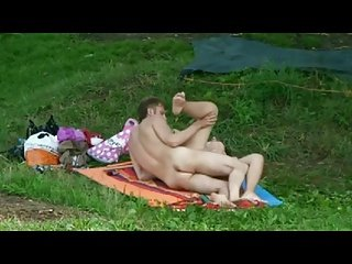 Spying Nude Couple in Forest BVR