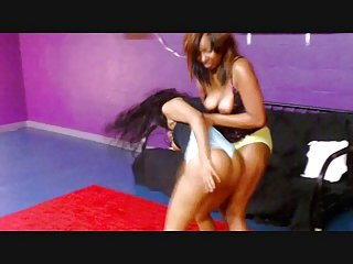 black girl catfight wedgies