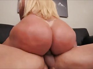 Booty Tgirl rides hard