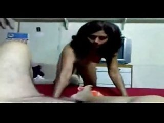 Indian Aunty's foreplay with her hubby's Dick