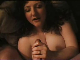 Busty amateur hot lady handjob and facial