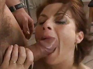 Busty mature fuck hard by the workman.