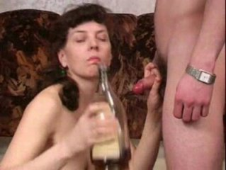 Drunken Mom fucks young Guy