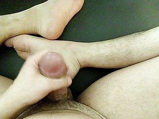 foot fetish cum