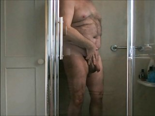 Chubby in the shower.