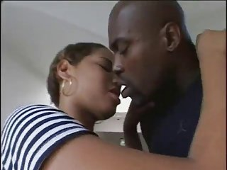 Hard Black dick stretches out Latin girl