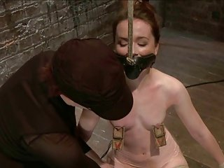 redhead tied and whipped