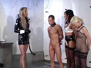 Mistress and couple have fun