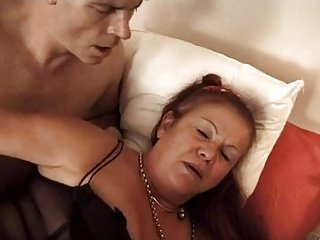 FRENCH MATURE 16 hairy anal mom hot lady blonde babe threesome