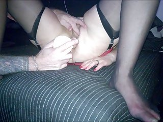 Dildon in pussy and ass