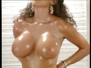 Sarah Young showing her hot oiled body