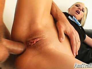 H is for Randy! This sexy braces wearing babe gets her horniness fixed by a big dick deep in her ass. After hard anal she swallows like a champ.