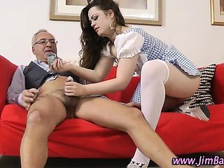 Brunette slut stockings doggystyle