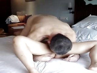 sexy asian fucks and masturbates homemade on cam