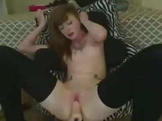 Tattooed Cougar Sex Machine Orgasm