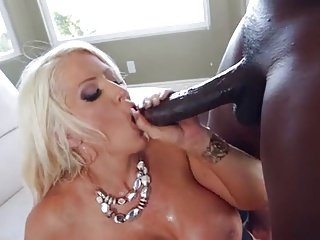 Cougar Blond Wife cheat his man for 12 inch