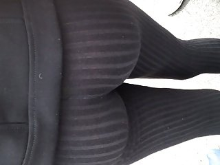 Nice Colombian with see thru black leggings