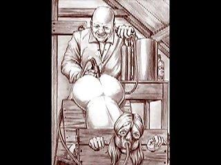 Cartoon art vintage bondage slideshow