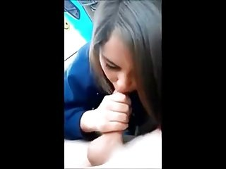 Young Girl Giving BJ In Car