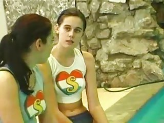 teen lesbians by the pool