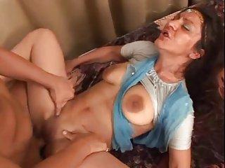 Sweaty Indian Hot lady Big Saggy Tits