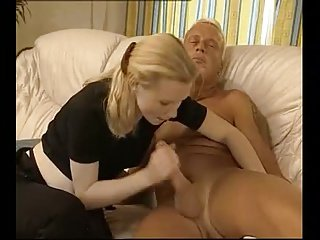 Beautiful blonde pregnant blow job