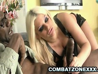 Big tit babe Julie Cash gets her pussy pleasured by her ebony fuck buddy.