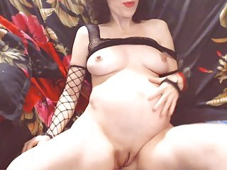 Webcam - Pregnant girl with big tits teasing