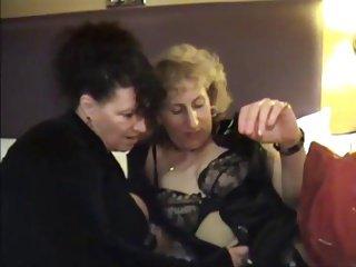 two mature sluts gangbanged